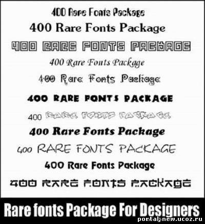 HFT - Rare Fonts Pack