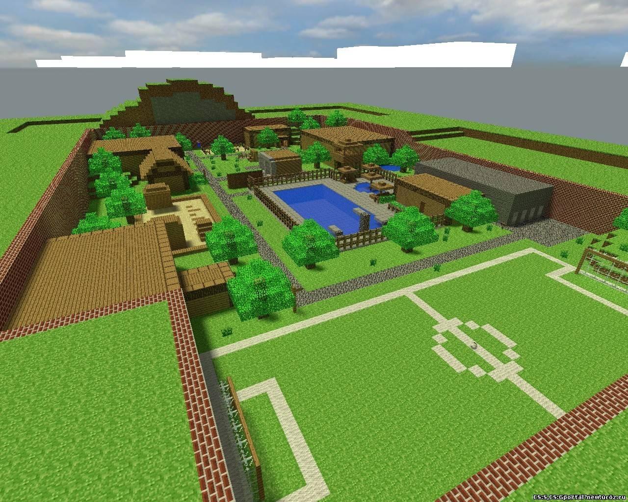 Скачать Уютный дом с Бассейном | Карты для minecraft ...